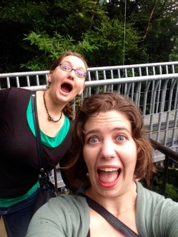 Selfie on a bridge
