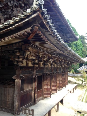 A temple inspired by Kiyomizudera, where they filmed part of the Last Samurai