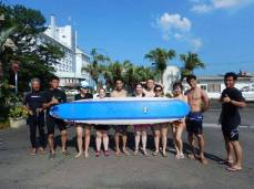 Surfing lessons at Aoshima