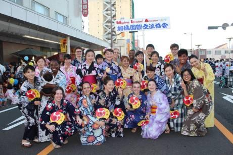 After dancing at Bonchi Matsuri