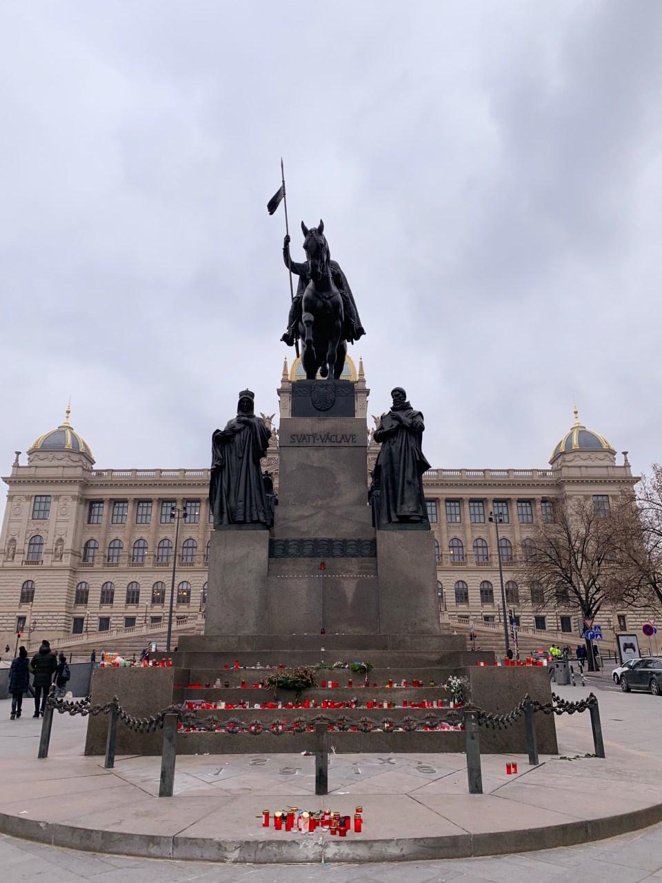 Prague - Statue Venceslas - Pomník svatého Václava