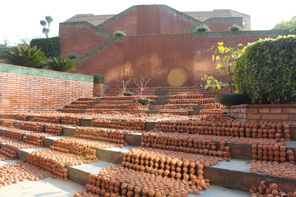 Manav Gupta Public Art Installations Excavations in hymns of clay waterfront India Habitat Centre