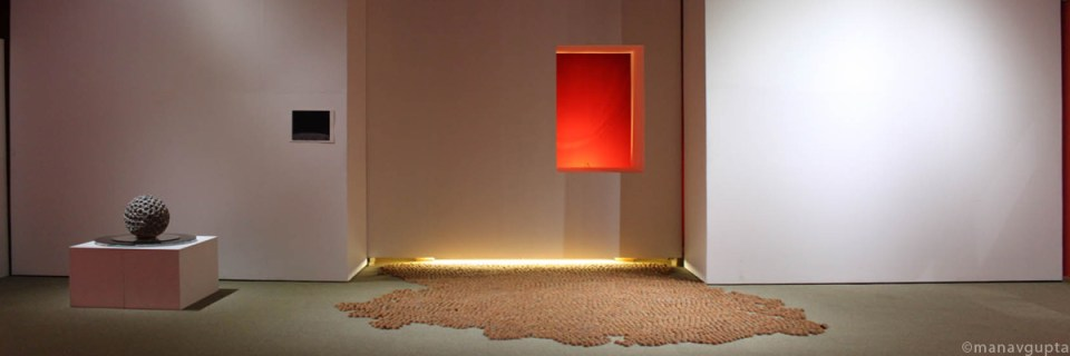 Earthen lamps installation by one of India's top ten artists Manav Gupta