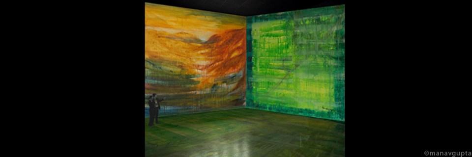 triple channel video Installation by Manav Gupta Artist | Manav Gupta| Gupta Manav