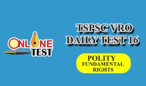 TSPSC VRO DAILY TEST 16