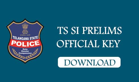 TS SI PRELIMS OFFICIAL KEY 2018