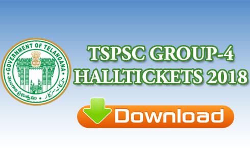 TSPSC GROUP-4 HALLTICKETS 2018