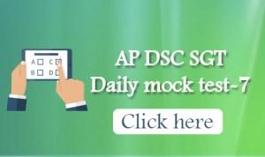 AP DSC SGT Daily mock test-7