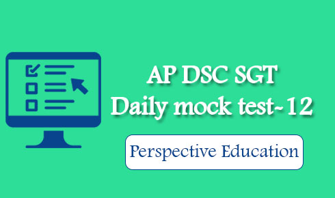 AP DSC SGT Daily mock test-12