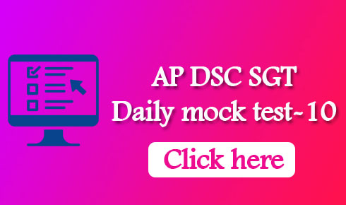 AP DSC SGT Daily mock test-10