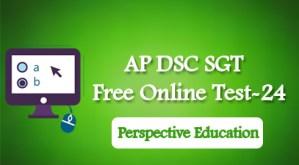 AP DSC SGT (TET cum TRT) Free Online Test-24