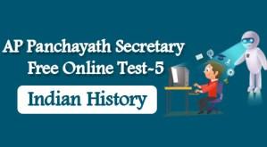 AP Panchayath Secretary Free Online Test-5