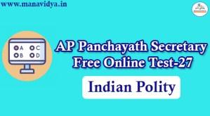 AP Panchayath Secretary Free Online Test-27