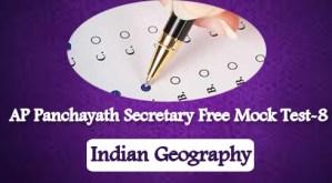 AP Panchayath Secretary Free Mock Test-8