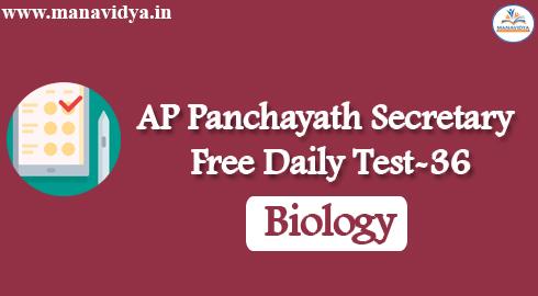 AP Panchayath Secretary Free Daily Test-36