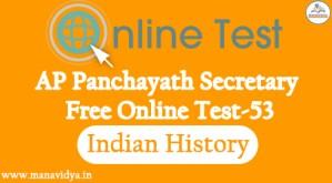 AP Panchayath Secretary Free Online Test-53