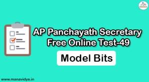 AP Panchayath Secretary Free Online Test-49