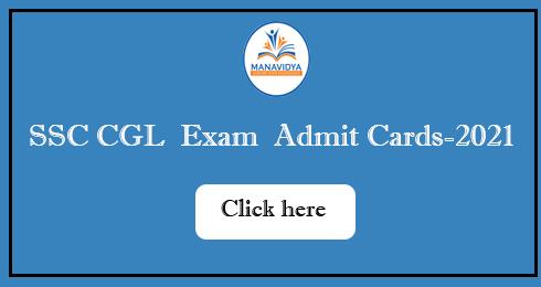 SSC CGL Exam Admit Cards-2021