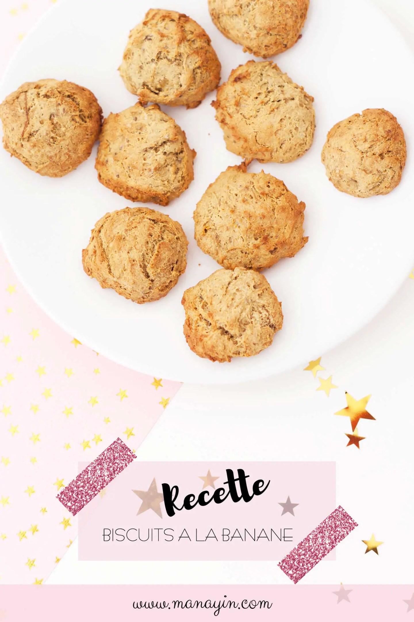 Recette biscuits à la banane