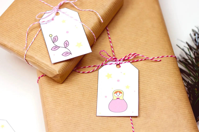 Free printable - étiquettes de Noël