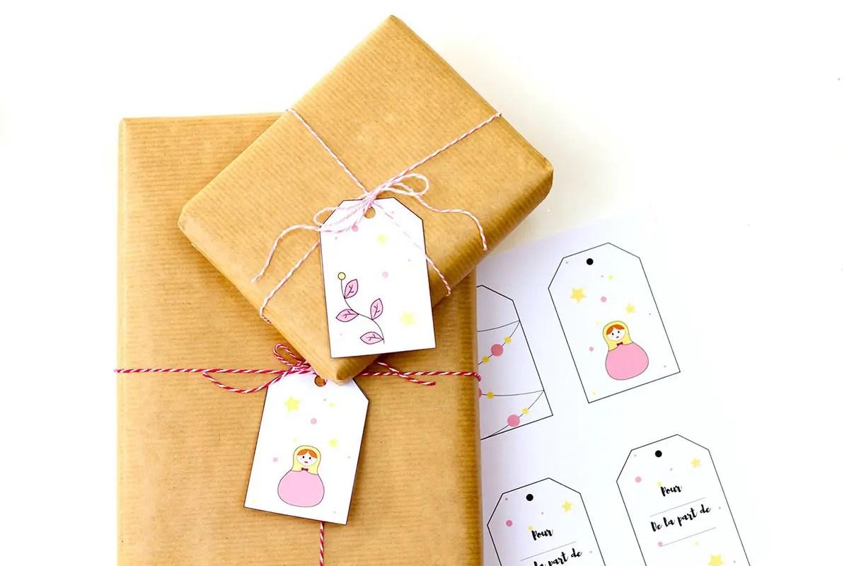 Etiquettes de Noël – free printable !