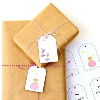Etiquettes de Noël – free printable ! graphic
