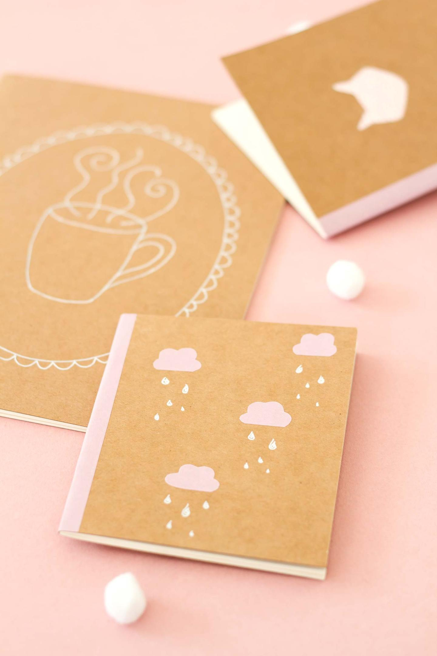 DIY pour customiser un carnet kraft