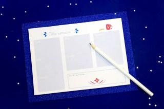 Semainier à imprimer + le DIY pour faire son semainier de bureau graphic