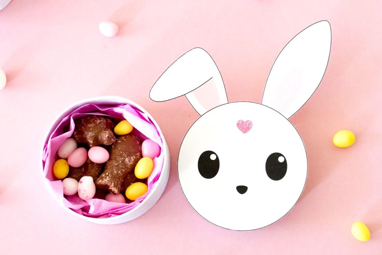 Boîte de chocolats pour Pâques