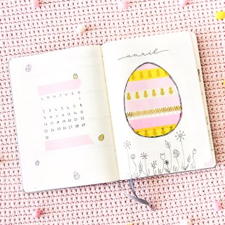 Bullet journal Avril 2018 : Mise en page + favoris de Mars graphic