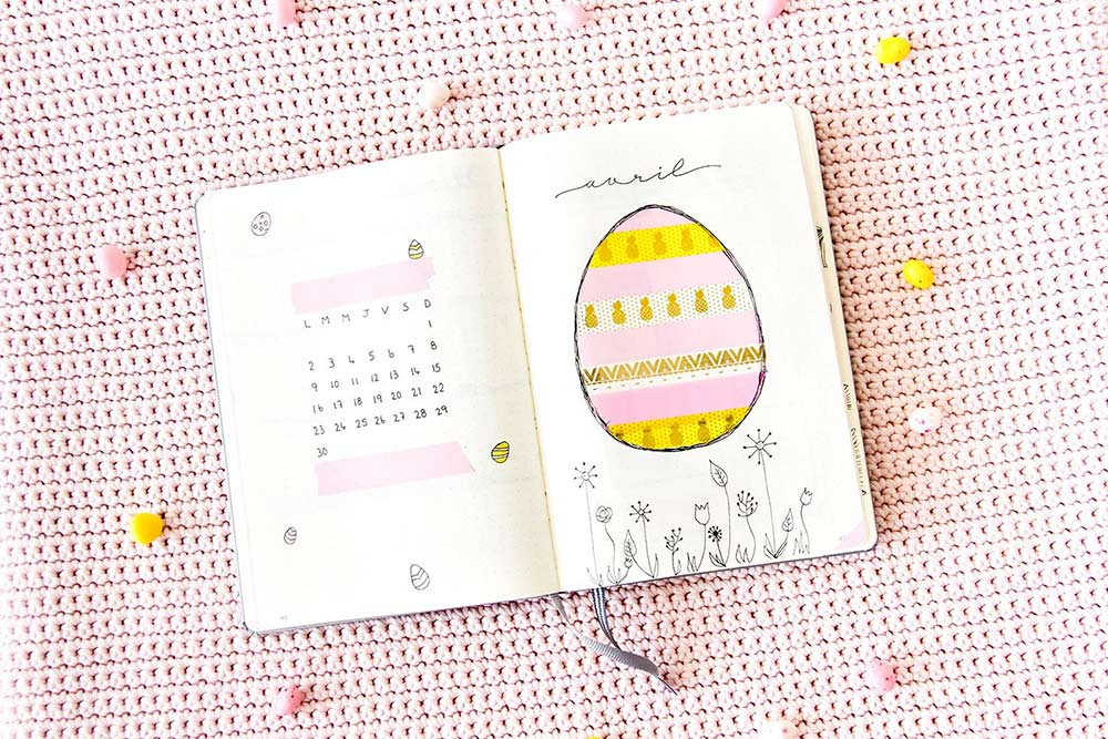 Bullet journal Avril 2018 : Mise en page + favoris de Mars