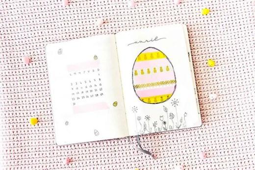 Bullet Journal Avril