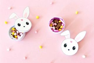 DIY lapin de Pâques – Freebie pour décorer une boîte de chocolats graphic