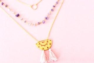 DIY collier : comment créer un collier 3 rangs pour le printemps ! graphic