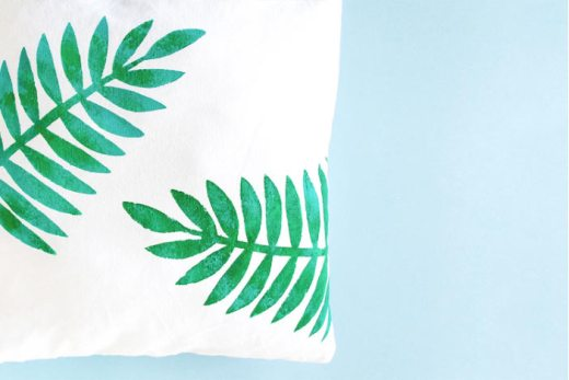 DIY coussin tropical