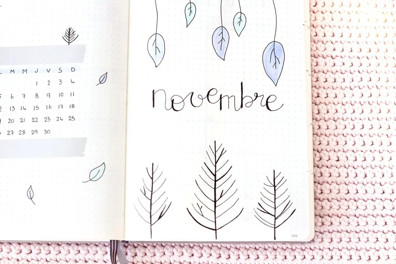Bullet Journal Novembre