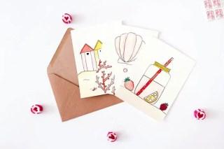 Freebies été : 3 cartes à l'aquarelle à télécharger et imprimer graphic