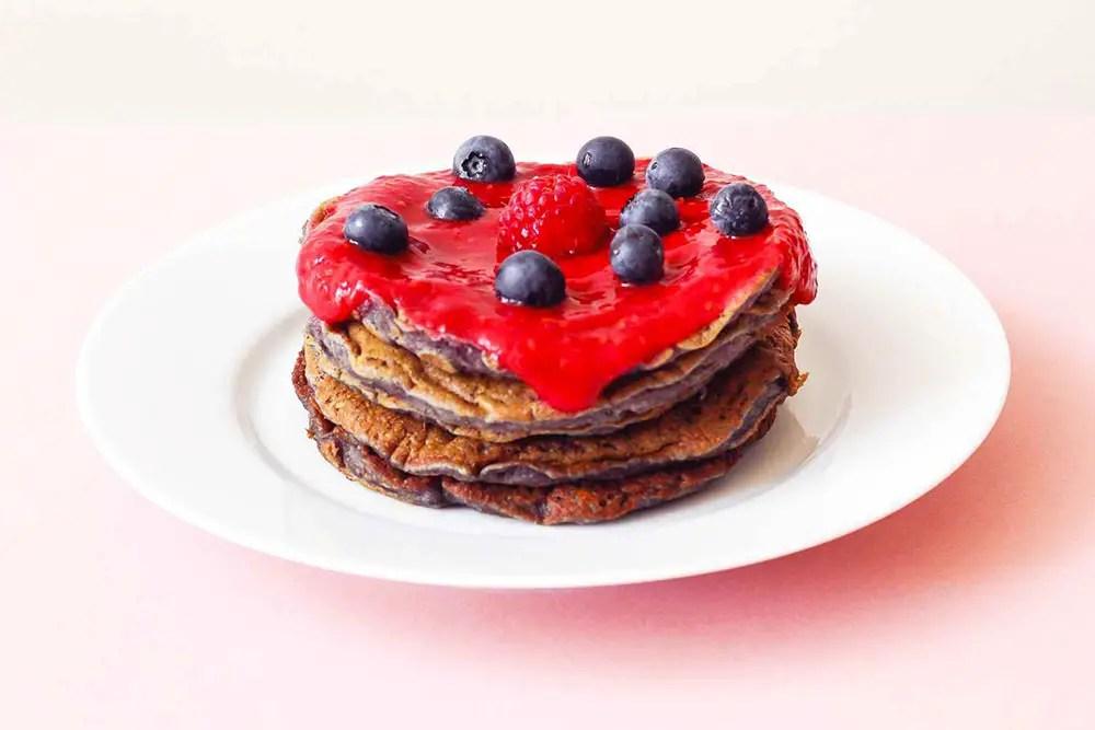 Pancakes aux framboises : ma recette sans gluten