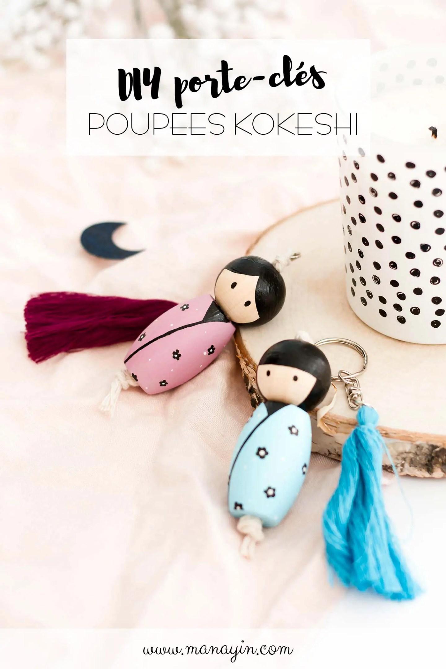 DIY poupée kokeshi