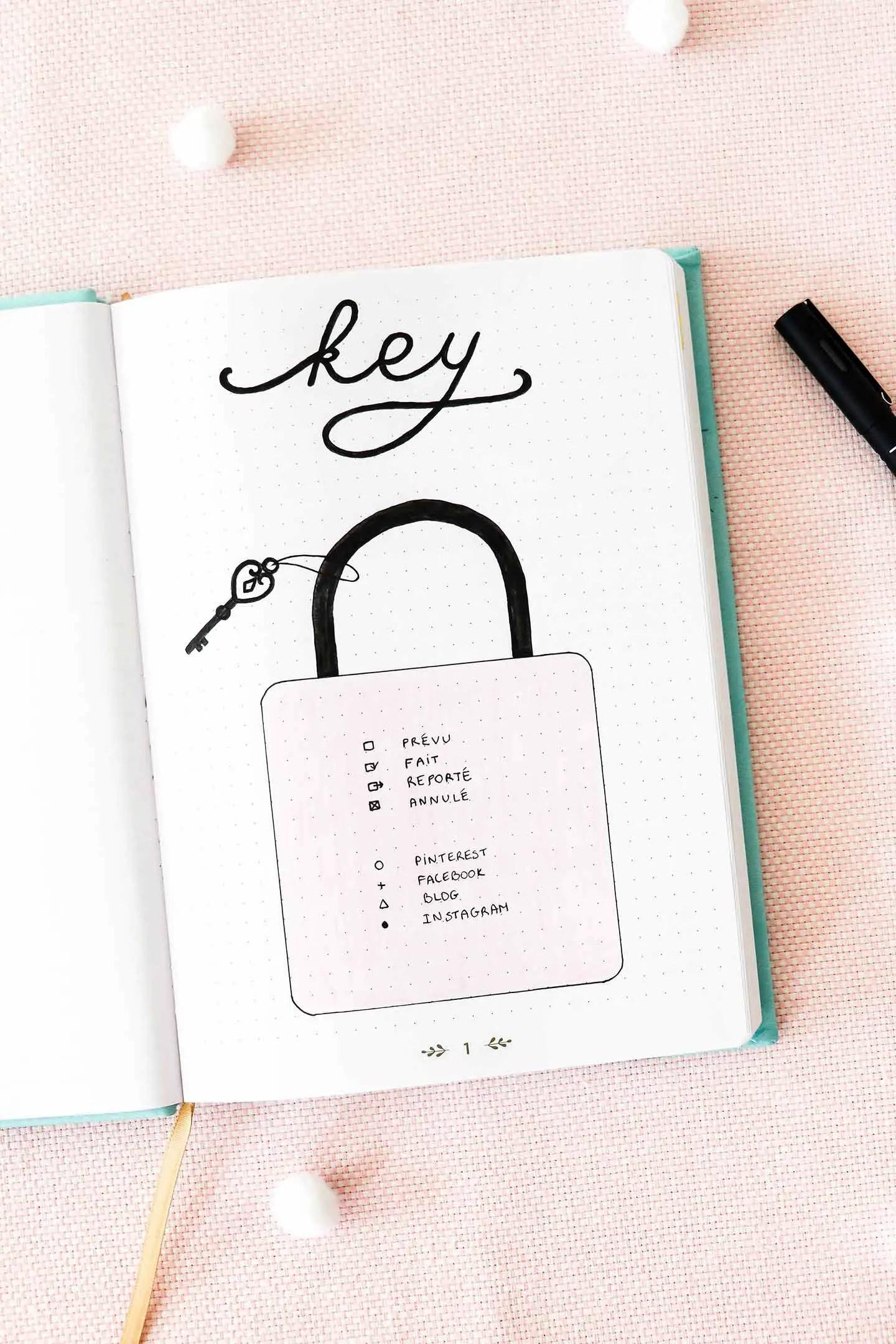 Bullet journal - key