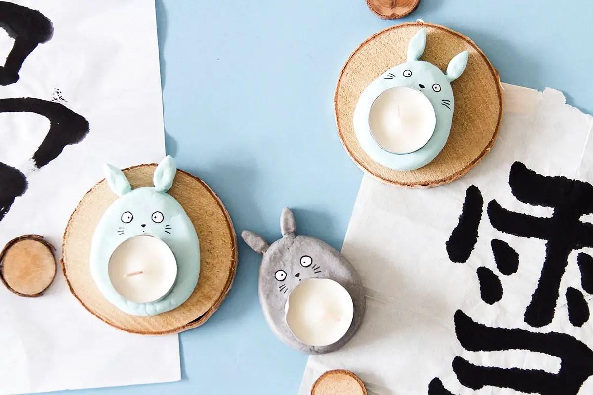 DIY Totoro : comment créer un bougeoir en forme de Totoro