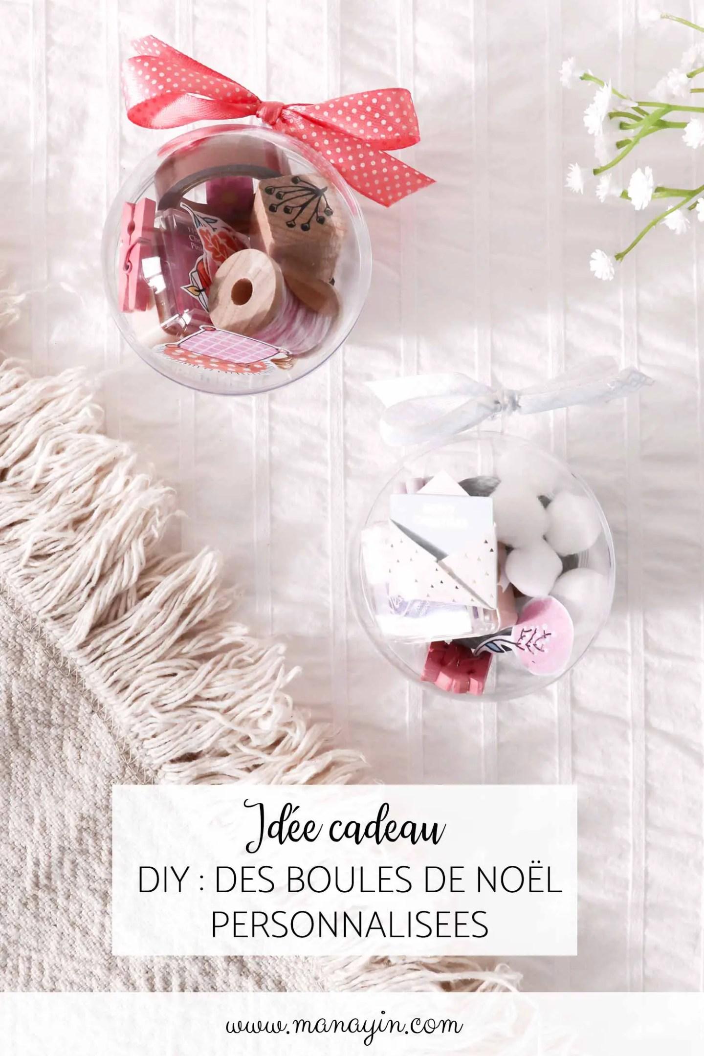 Idée cadeau DIY : des boules de Noël personnalisées