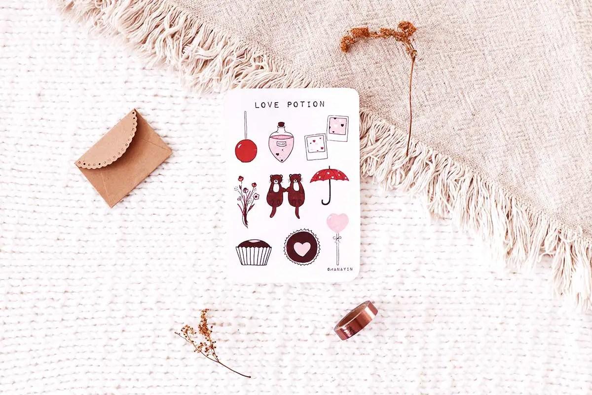 Des stickers pour la Saint-Valentin à imprimer gratuitement