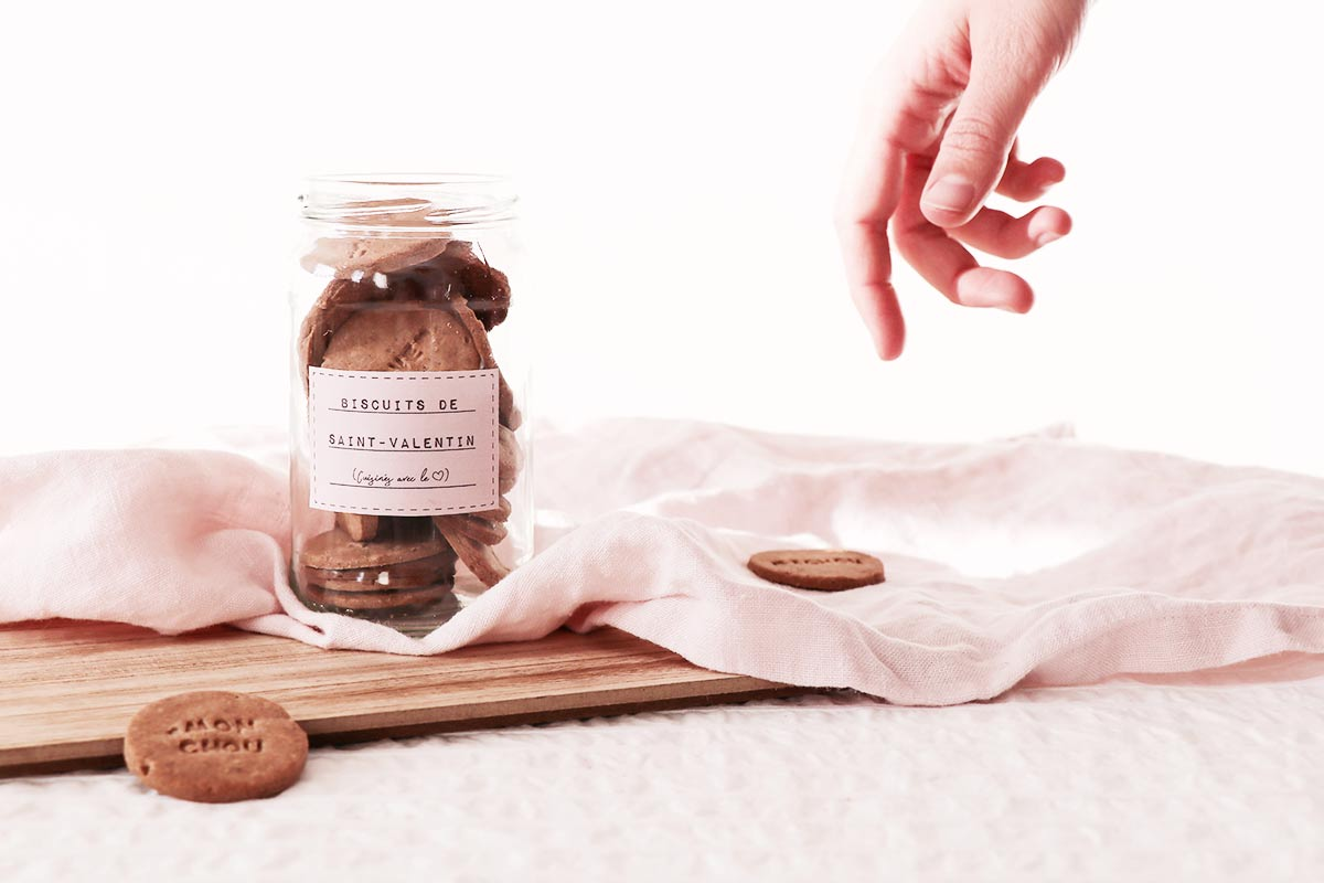 DIY Saint-Valentin : des biscuits à mots doux
