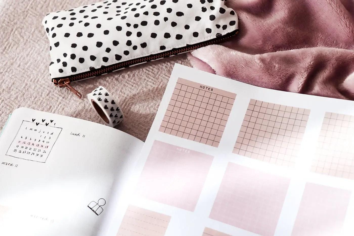 idée bullet journal : free printables