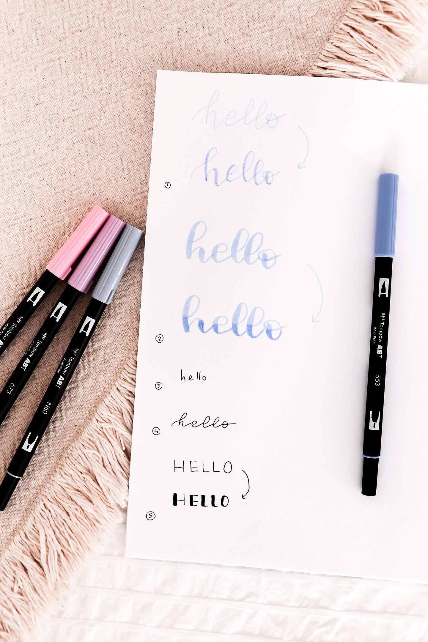 5 astuces lettering