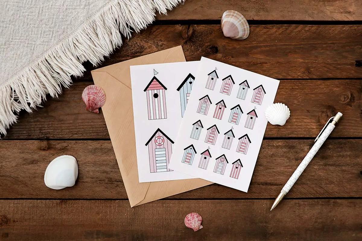 Des cartes postales à imprimer pour l'été
