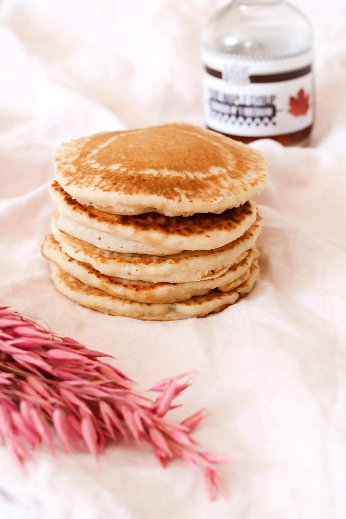 Pancakes sans oeufs sirop d'érable