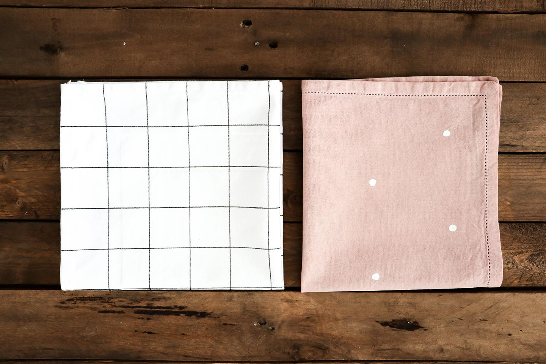 Torchon grid et rose