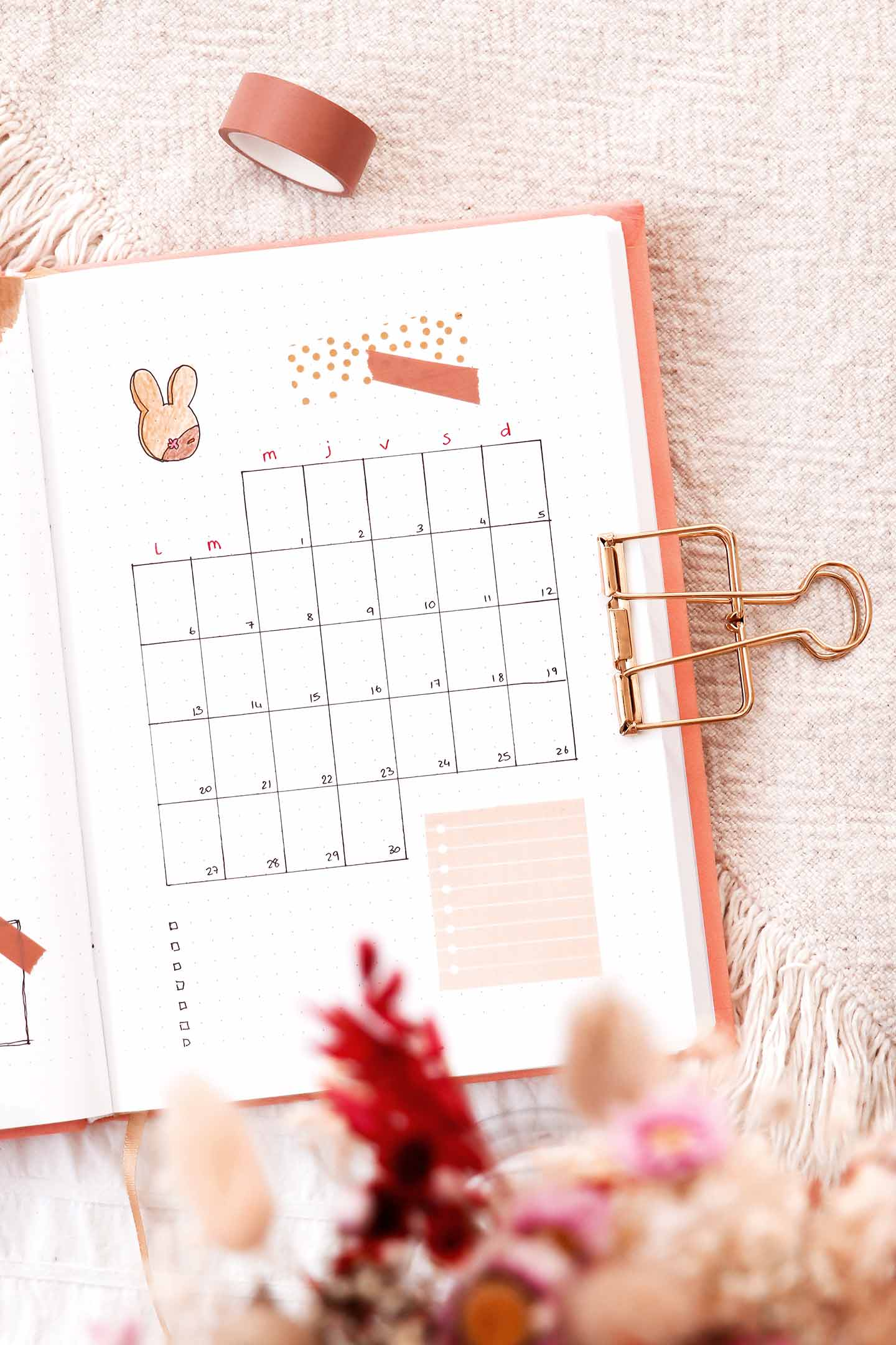Monthly log avril
